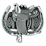 Senmi Saddle Horseshoe Metal Solid Belt Buckle