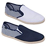 Rock & Religion Mens Espadrilles Plimsolls Canvas Shoes Pumps Trainers Size 7-11