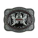 Senmi Intricate Belt Buckle With Cowboy Boot & Hat