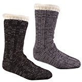 PIERRE ROCHE Men's Cosy Cotton Rich Lounge Slipper Socks Anti Slip Grippers 6-11