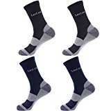 Laulax 4 Pairs Unbreakable Toe Work Socks, Size UK 7 - 11 / Europe 41 - 46