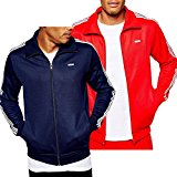 Mens adidas Originals Beckenbauer Track Top In Red