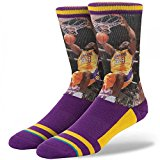 Stance NBA Legends Shaquille O'Neal Socks, Purple LA Lakers - Size L/XL