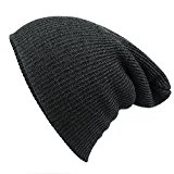 Striped Needle Warm Hat - iParaAiluRy Unisex Luxurious Fashionable Soft Slouchy Knitting Wool Cap Beanie Hat in Winter and Spring