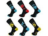 3x Pairs of Mens Official Licensed Mr Men Socks / UK 6-11 Eur 39-45