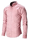 FLATSEVEN Men's Slim Fit Casual Oxford Button Down Shirt