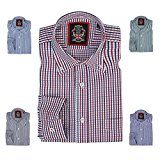 Long Sleeve Shirt Janeo British Apparel,Mens Casual Fit Oxford Checks Button Down Collar,Fine Detailing. Worn With Ties