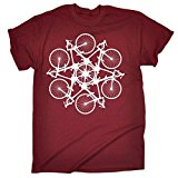 123t RLTW Men's BICYCLE CIRCLE ... KALEIDOSPOKE DESIGN LOOSE FIT T-SHIRT