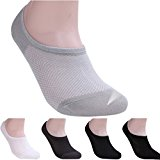 Oyedens 5 Pairs Unisex Cotton Blend Net Loafer Boat Socks Liner Low Cut No Show Socks