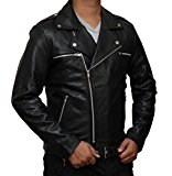 Negan Leather Jacket - Black Walking Dead Jacket Replica
