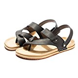 Maikun Shoes for Men Casual Leather Slingback Thong Sandals