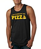 Mens Lift To Burn Off The Pizza Funny Eating Working Out Fitness Tank (Black)