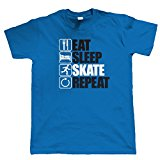 Vectorbomb, Eat Sleep Skate Repeat, Mens Funny, Sporting T Shirt (S to 5XL)