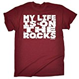 Adrenaline Addict Men's - MY LIFE IS ON THE ROCKS - Loose Fit T-shirt birthday funny gift for him for her