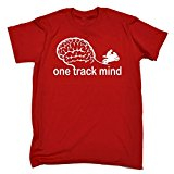 123t Men's One Track Mind Superbike T-SHIRT Funny Christmas Casual Birthday Tee