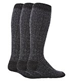 Workforce - 3 Pairs Mens Extra Long Knee High Thick Warm Wool Rich Knitted Boot Socks (WFH0035NVY)