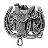 Buckle Rage Men's Saddle Horseshoe Western Horse Ride Belt Buckle