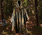 HOUWEN Unisex Outdoor Products Ripstop Raincoat Poncho Mylar Space Blankets