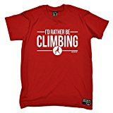 PREMIUM Adrenaline Addict - Mens Id Rather Be Climbing T-SHIRT / rock climbing fashion clothing