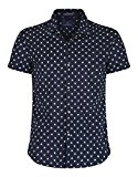 Navy Scotch Soda Men's Hawaii Ditsy Watermelon Print Short Sleeve Shirt - Dessin F