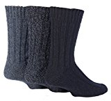 Country Pursuit Mens 3 Pack Outdoor Wool Blend Short Boot Socks