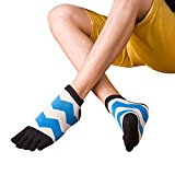 MORESAVE Men Socks Pure Cotton Sports Five Finger Toe Socks Running Athletic Socks
