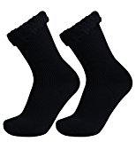 Well Knitting 2 Pairs Mens Extra Warm Comfortable Thick Winter Outdoor Working Ski Hiking Brushed Thermal Socks UK Size 7-12