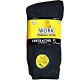 Mens 12 Pairs Thermal Outdoor Heavy Duty Work Construction Socks Size 6-11 Black by Highliving ®