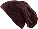 PEARL urban XXL Long Beanie Knitted Hat, Dark Brown