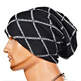 Knitting Wool Striped Warm Hat - iParaAiluRy Unisex Luxurious Fashionable Soft Slouchy Cap Hip-Hop cap Beanie Hat in Winter and Spring