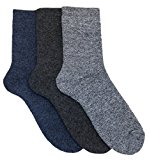 Mens 3 Pack Cotton Rich Loop Back Boot Socks by RJM Size 7-11