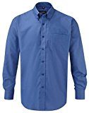 Russell Collection Mens Long Sleeve Easy Care Oxford Shirt