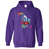 Keep On Rolling Derby Girls Roller Skate Jammer Blocker Pivot Skating Vintage Rainbow Retro Hoodie Cool Funny Gift Present Unisex Fit