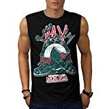 Lovely Dancing Shoes Toe Ballet Men NEW Black White Grey Red Navy S-2XL Sleeveless T-shirt | Wellcoda