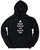 HippoWarehouse Keep Calm and Skate On unisex Hoodie hooded top