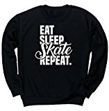 HippoWarehouse Eat Sleep Skate Repeat unisex jumper sweatshirt pullover