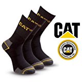 Pack of 3 Caterpillar Work Socks Cotton Mens in Black Size UK 11-14 - Bulk Options