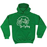 123t The Voices In My Head Keep Telling Me ... Go Cycling - HOODIE birthday funny gift for him for her