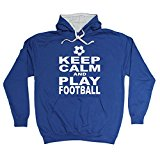 123t Keep Calm And Play Football - HOODIE Funny Christmas Casual Birthday Hoody