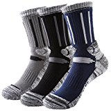 Huathy Men's Outdoor Skiing Climbing High Terry Socks Full Cushion General Athletic