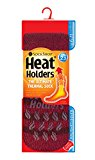 Mens Slipper Heat Holders Thermal Socks Size 6-11 uk - 39-45 eur (Burgundy Stripe)