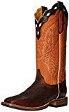Cinch Classic Men's Chance Riding Boot, Brown/Orange, 8.5 2E US