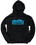 HippoWarehouse I'd Rather Be Swimming unisex Hoodie hooded top