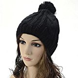 Knitting Wool Warm Hat - iParaAiluRy Unisex Fashionable Soft Cannabis Cap Beanie Hat in Winter and Spring
