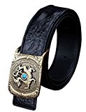 Menschwear Men's Belts Full Grain Leather 100% Copper Slide Buckle 37MM