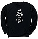 HippoWarehouse Keep Calm and Skate On unisex jumper sweatshirt pullover