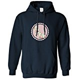 Vintage Floral Pattern Shoe Design Badge Texturized Look Hoodie