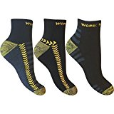 12 Pairs of Mens Ultimate Work Trainer Socks with Re-inforced Heel and Toe / UK Size 6-11 Eur 39-45