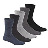 Men's Sports Socks 5 Pairs Multipack (Size 6-11) Cotton Rich Cushioned Support