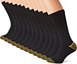 Mens Work Socks (12 Pair Pack) F&M® Mens heavy duty, cotton rich work socks with reinforced heel and toe